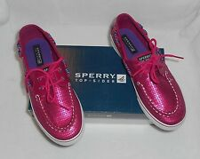 SPERRY TOP-SIDER Girls Bahama Hot Pink Boat Shoes