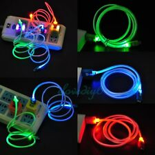 LED Visible Light Android Micro USB Charge Data Sync Cable For Samsung Android