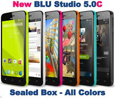 New BLU Studio 5.0 C - 5MP HD 4GB Dual Sim Android Unlocked GSM D536U