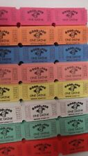 """**SINGLE ROW """"GOOD FOR ONE DRINK"""" CONSECTIVELY NUMBERED RAFFLE TICKETS"""