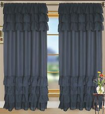 "ruffled fabric window curtain 60"" x 90"""