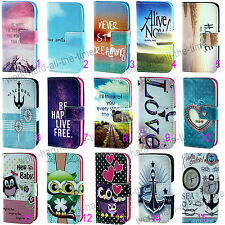 New Design Cartoon PU Leather Flip Wallet Stand Case Cover For Various Phones
