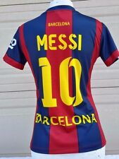 FC Barcelona Women Messi # 10 Home Jersey Unbranded NWOT Stitched Patch