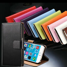 """For iPhone 6 4.7"""" 6 Plus 5.5"""" New Luxury Genuine Leather Cover Flip Wallet Case"""