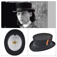 Hand Made Black English Classic Junior Top Hat/Dead Man Top Hat - 100% Wool