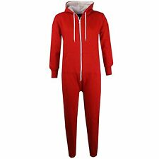 NEW KIDS GIRLS BOYS PLAIN RED A2ZOnesie One Piece ALL IN ONE JUMPSUIT 2-13Yr