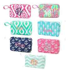 Personalized Cosmetic Bag Accessory Tote Embroidered Monogrammed Makeup