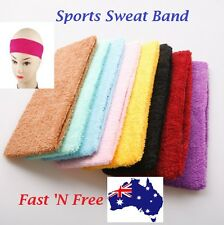 Sweatband Sweat Band cotton Gym Headband Tennis Badminton Sports Yoga Running AU