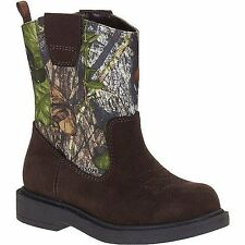Mossy Oak Infant/Toddler Camo Hunting Velcro Cowboy Boots/Shoes:Sizes- 2,10