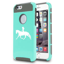 For iPhone 5 5s 5c 6 Plus Shockproof Impact Hard Case Cover Cowgirl Riding Horse