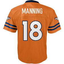 Youth Boy's/Girl's Peyton Manning NFL Denver Broncos Orange Game Jersey-S-XL