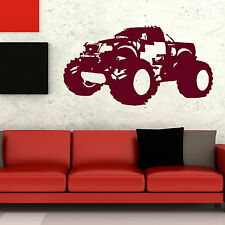 Monster Truck Boys Room Wall Sticker / Decal Transfer / Graphic Stencil NE94