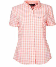 Fred Perry Womens Classic Gingham Shirt in desert flower