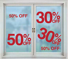 50% -10% SALE SHOP VINYL WINDOW/WALL DECALS FOR BUSINESS- SELECT YOUR AMOUNT