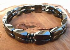 Men's Magnetic Hematite Bracelet/Anklet Twist Disc AAA STRONG 2row FREE SHIPPING
