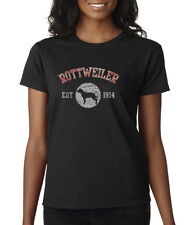 Rottweiler Est 1914 Pure Breed Puppy Dogs AKC Pets Ladies T-Shirt S-2XL