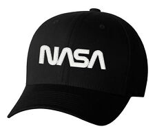 Nasa Worm Insignia Logo Hat Space Exploration Embroidered Hat 4 Colors