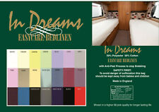 """Caravan/motorhome  polycotton fitted 2ft 3""""(27"""") wide upto 6ft 6"""" length pastels"""