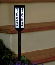 """24"""" Solar Lighted Address Stake Light Buy 1 or Set of 2 Lights FREE SHIPPING"""