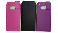 BLACK FLIP POUCH LEATHER CASE POUCH COVER SLEEVES FOR HTC ONE M9