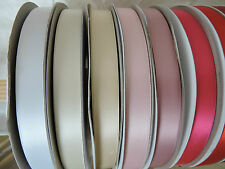 16mm Double Sided Satin Ribbon x 10mts Available in 27 Colourways