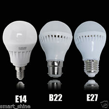 6 x B22 E27 E14 5W LED SMD Globe Bulbs BC ES SES Ball Light Lamp Warm Day White