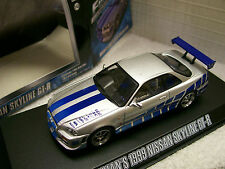 1/43 diecast Greenlight Fast and Furious model Skyline Charger RX-7 Eclipse Supr