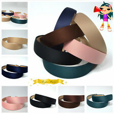 Hot 6Color Wide Plastic Headband Hair Band Satin Ribbon Fabric Covered Headwear