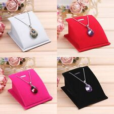 Velvet Jewelry Necklace Pendant Drop Chain Display Holder Standing Stands