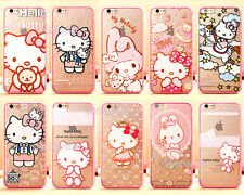 Cute Cartoon Hello Kitty Melody Soft TPU Hard PC Case Cover for iPhone 5S 6 Plus