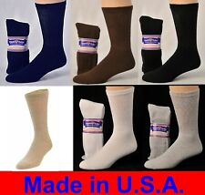 12 Pair Men's Women Diabetic Crew Socks Physicians Choice Cushioned  Asst Sizes