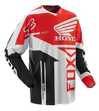 Fox Racing 360 Honda Jersey Red Men's Motocross/MX/ATV/BMX/MTB Bike 2014 Adult