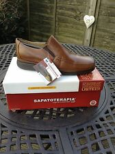 SAPATOTERAPIA SLIP ON IN TAN LEATHER £95 NOW £50.00