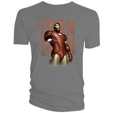 Licensed Iron Man Repulsor Ray Grey T Shirt Marvel Tee SALE PRICE