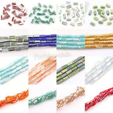 Wholesale 30/60Pcs Chic Faceted Czech Crystal Cuboid Loose Spacer Beads 4X2mm