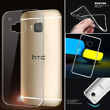 Slim  Transparent TPU Rubber Gel Skin Protector Case Cover for HTC ONE M9 c1
