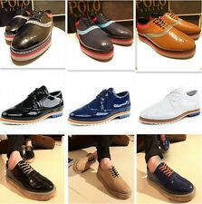 Hot New Mens PU Leather Lace Up High Platform Casual Dress Oxford Shoes Sneakers