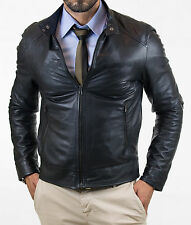 Giubbotto Giacca Vera Pelle o PU Uomo Veste Homme Cuir Men Leather Jacket in 80s