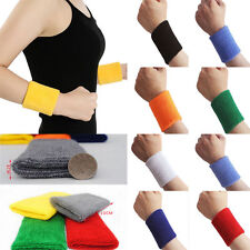 2*Unisex Outdoor Sports Sweat Sweatband Handband Yoga Gym Stretch Wrist Band