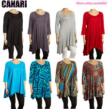 CANARI - Women's Shaya Sidetail Tunic in PLUS Size -- COLORS AVAILABLE