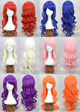 "Hot Sale 20"" 6 color Curly Synthetic Hair Full Wig Party for Women Full Cos Wig"