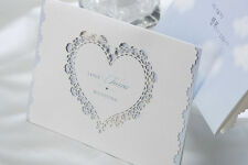 Blue Wedding Invitations Cards Heart Style Free Envelopes Seals Kits WI1065