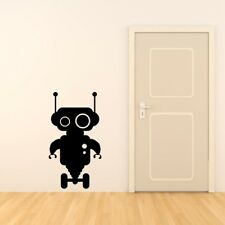 PERSONALISED ROBOT wall stickers boys name bedroon childrens art decal vinyl
