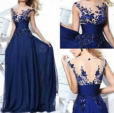 2015 NEW Dress Long Wedding Applique Evening Prom Gown Cocktail Party