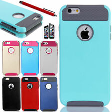 "Hybrid Hard&Soft Shockproof Rugged Rubber Cover Case For Apple iPhone 6 4.7"" 5.5"