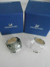 SWAROVSKI BAGUE NIRVANA BLACK DIAMOND  NEUVES -SWAROVSKI CRISTAL RING