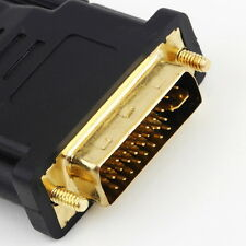 New  DVI Male to HDMI Female adapter Gold-Plated NEW M F Converter For HDTV LCD