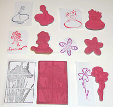 CHOICE OF UNMOUNTED RUBBER STAMP WITH A FLOWER THEME 6 STYLES NEW