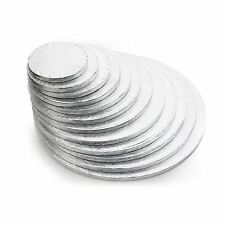 Silver Round Cake Drum Boards 12mm Strong Base 4 - 20 inches as low as £0.95