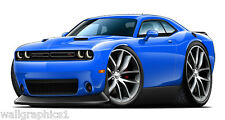 2015 Dodge Challenger R/T Wall Graphic Decal Sticker with Premium Wheels V2